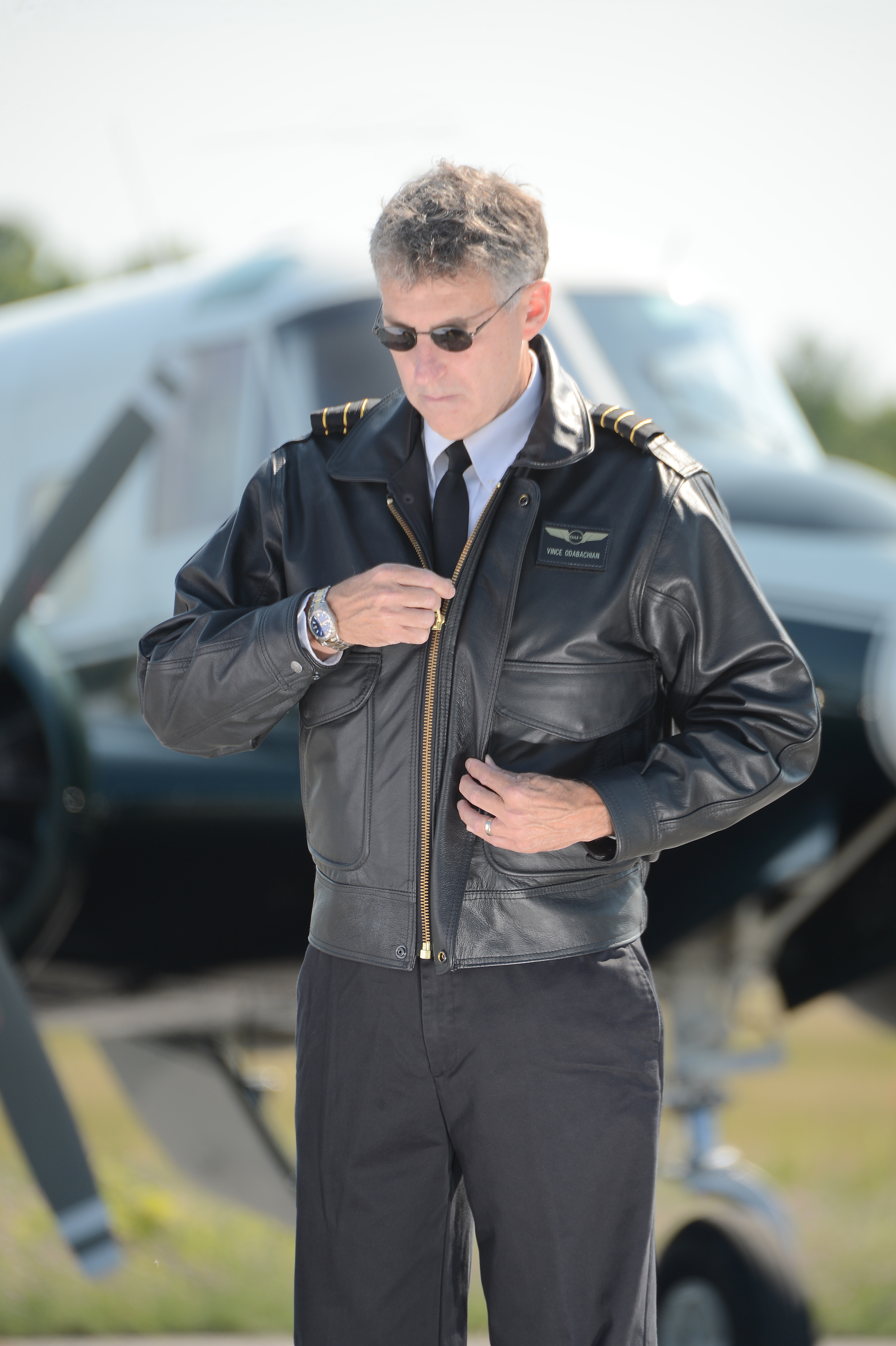ShopFedEx Pilot's Leather Uniform Jacket